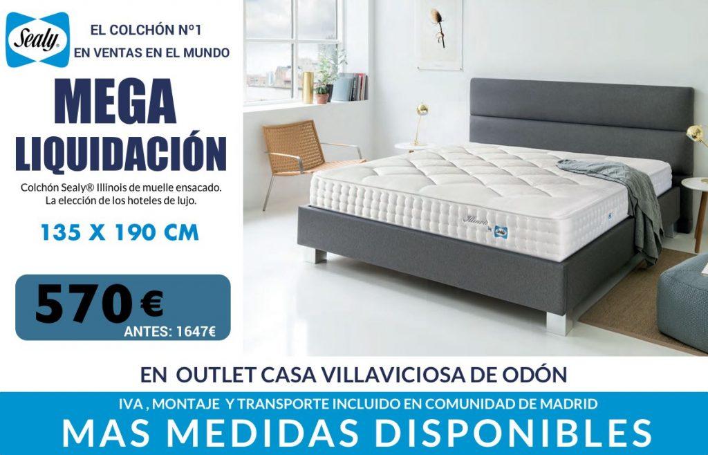 Liquidación colchón Sealy Illinois en Outlet Casa Villaviciosa de Odón Madrid