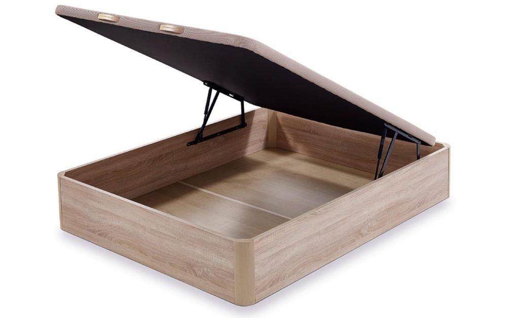 Canapé de madera abatible colchón