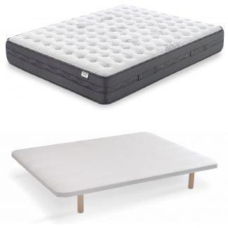 Pack colchón nimbus con base tapizada